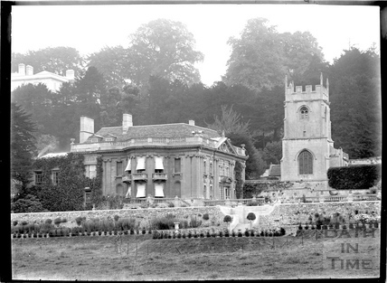 Widcombe Manor and church c.1920