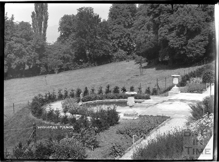 The gardens in Widcombe Manor, c.1928