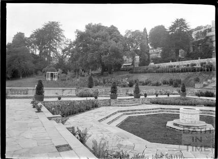Sunken Terrace and gardens at Widcombe Manor c.1927