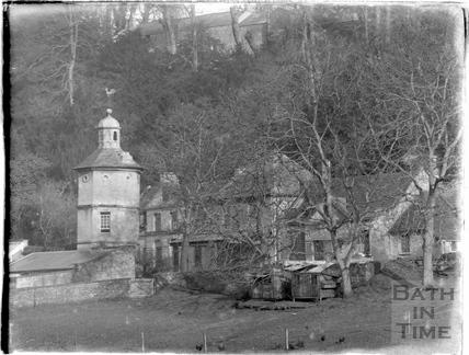 Dovecote and coach house, Widcombe Manor, c.1910