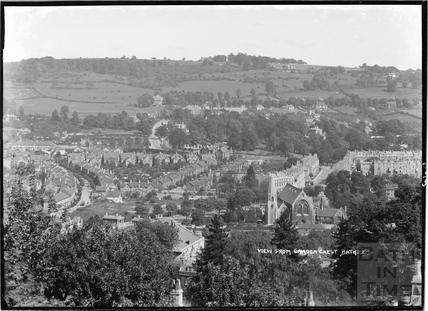 View of Bath from Camden Crescent No. 2, 21 June 1936