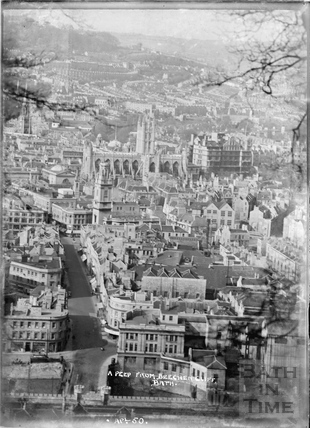 A Peep of Bath from Beechen Cliff , April 1950
