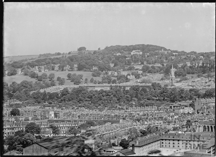 A Peep of Bath from Beechen Cliff No.3a, 1950