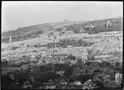 View of Bath from Sham Castle No.3 c.1930s