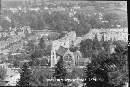 View of Bathwick Street from Camden Crescent No. 2, 21 June 1936 - detail