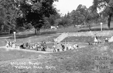 Boating pool, Royal Victoria Park c.1937 - detail