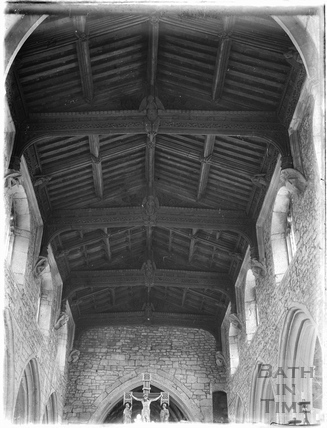 Inside Wellow Church, c.1950s