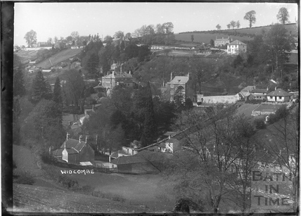 View of Lyncombe Vale towards Lyncombe Hall c.1910