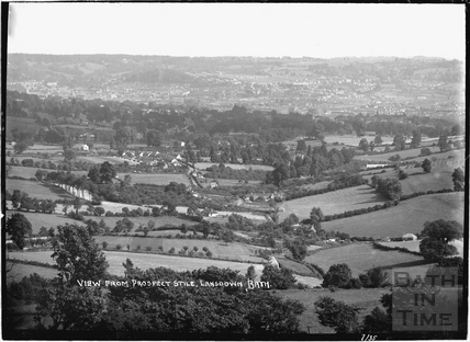 View of Bath from Prospect Stile, Lansdown, July 1935