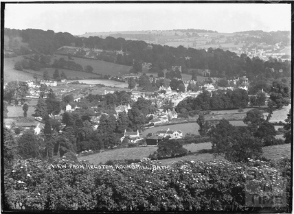View from Kelston Roundhill of Weston c. July 1935