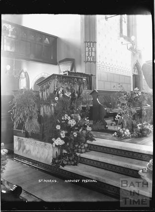 Inside St Marks Church c.1920s
