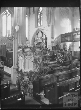 Inside St Marks Church c.1920s