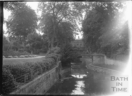 The Canal and bridge, Sydney Gardens, Bath c.1920
