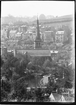 St. Matthew's Church and Kennet and Avon Canal, Widcombe, Bath c.1920