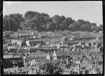 View of Widcombe towards Beechen Cliff, 6 June 1937