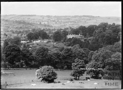 View of Crowe Hall and gardens from Popes Walk, c.1937