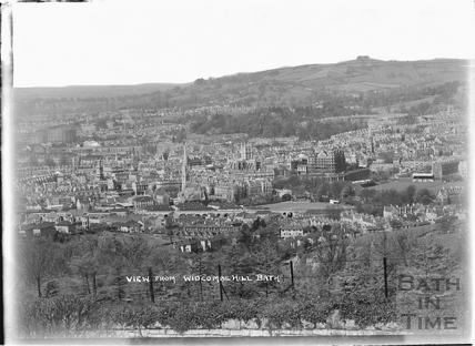 View of Bath from Widcombe Hill, c.1950s