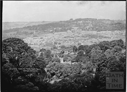 View of Bath from the Monument Field, Combe Down c.1937