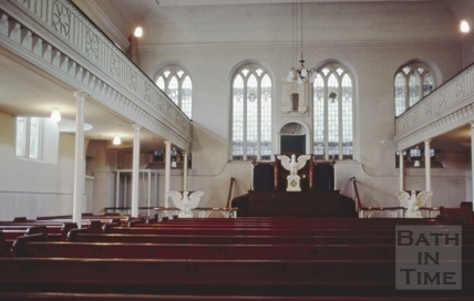 Interior of the Countess of Huntingdon's Chapel, Vineyards, June 1984