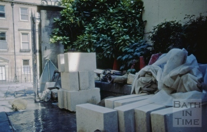 Blocks of new Bath stone for the Chapel of the Countess of Huntingdon's Chapel, Vineyards, June 1984