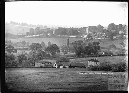 View of Bathford from Warminster Road, c.1920s
