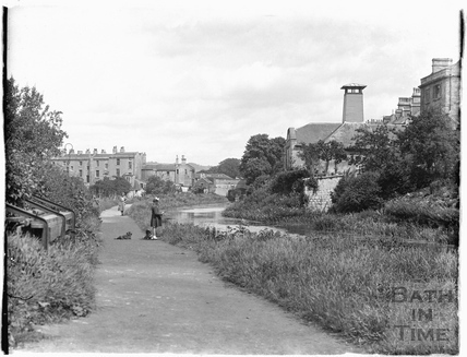 The Kennet and Avon Canal, Sydney Buildings, Bath c.1920