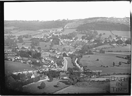 View from Little Solsbury of Batheaston c.1908