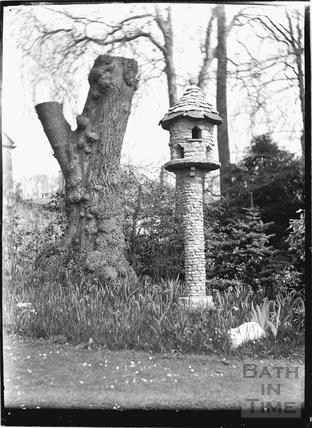 Batheaston House, back garden, 1922 / 1923