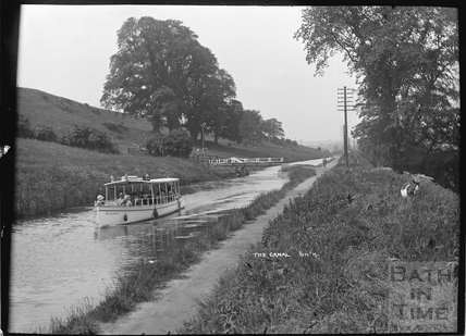 Pleasure boat Margherita on the Kennet and Avon Canal, Bathampton c.1934