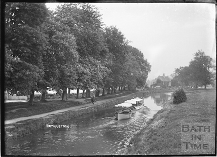 Pleasure boats on the Kennet and Avon Canal, Bathampton c.1934