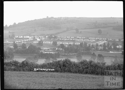 View of Bathampton and Bathampton Down c.1934