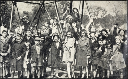 Children at the opening of Alice Park June 1938