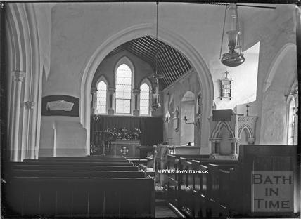 Inside St Mary's Church, Upper Swainswick c.1935