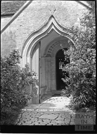 The porch of St Mary's Church, Upper Swainswick c.1935