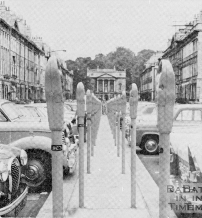 An idea of what Great Pulteney Street might look like with Parking Meters 1960