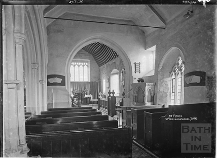 Inside St Mary's Church, Upper Swainswick, 27 July 1938