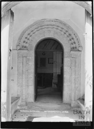 Norman Doorway, St Mary's Church, Upper Swainswick, c.1935