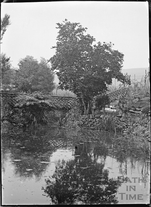 The lower gardens of Wayfield, Solsbury Lane, Batheaston, c.1920s