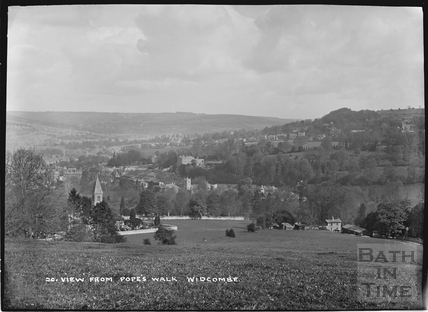 View from Popes Walk of Widcombe, No.20 c.1910