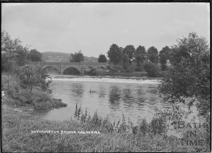 Bathampton Toll Bridge and weirs c.1920s