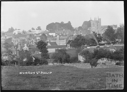 Norton St Philip, village view 1910