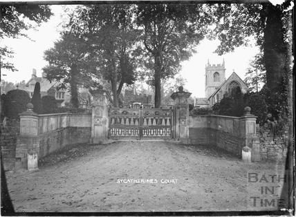 St Catherines Court entrance gates, c.1904
