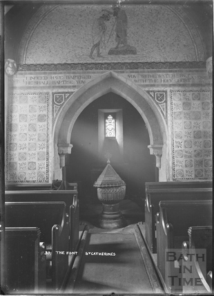 Inside the church of St Catherines No.33 c.1920