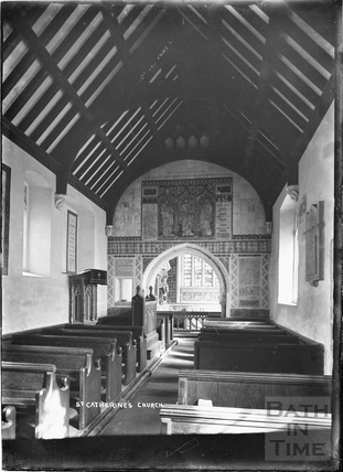 Inside the church of St Catherines c.1920