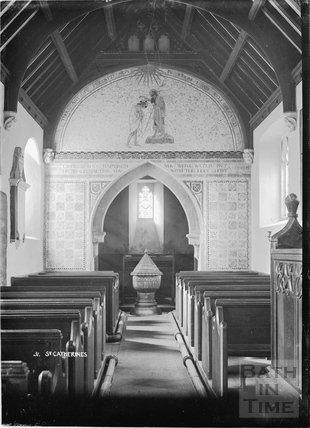 Inside the church of St Catherines No.31 c.1920