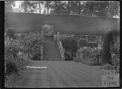 Steps to terrace, St Catherines Court c.1920