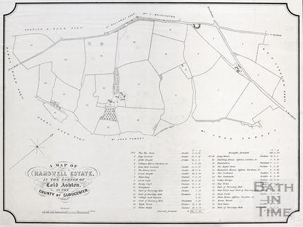 A Map of Hamswell Estate, in the Parish of Cold Ashton in the County of Gloucester c.1852-63