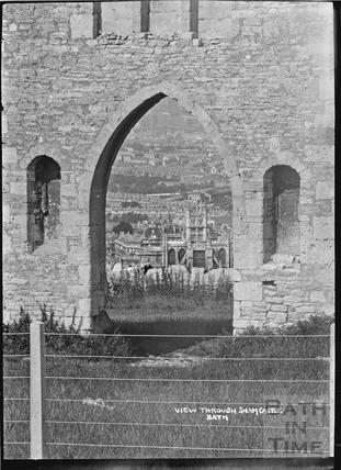 A view through Sham Castle c.1922