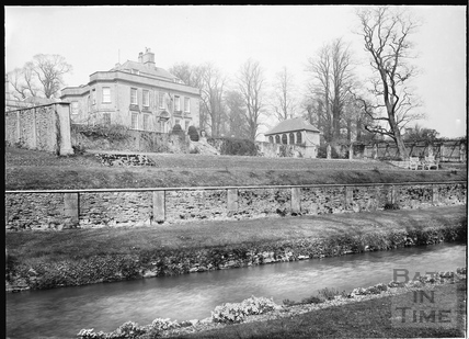 View of ha-ha, water and garden, Hamswell House, near Battlefields c.1930s