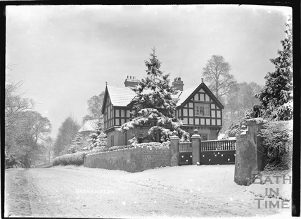 House at Bathampton in winter c.1920s
